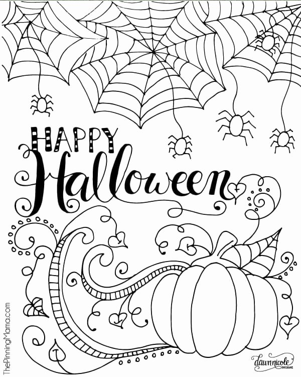 Halloween Coloring Worksheets for Preschoolers New Halloween Coloring Sheets for Kids Free Printable toddlers
