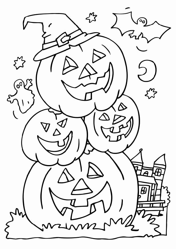 Halloween Coloring Worksheets for Preschoolers top Free Printable Halloween Coloring for Kids Preschoolers Math
