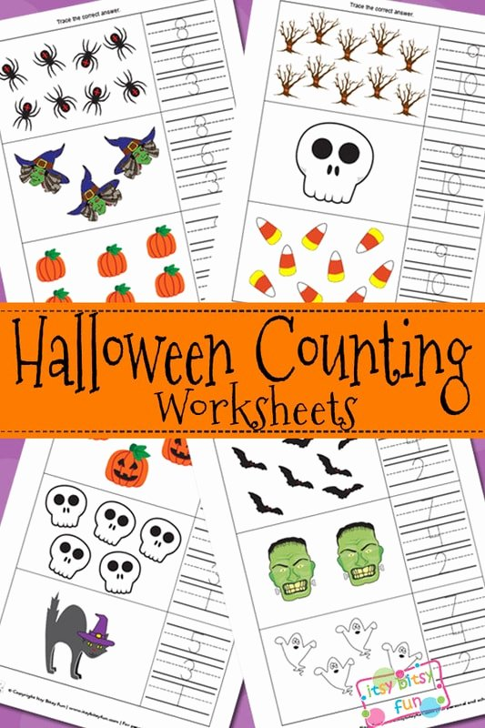 Halloween Counting Worksheets for Preschoolers Best Of Halloween Counting Worksheets Itsybitsyfun