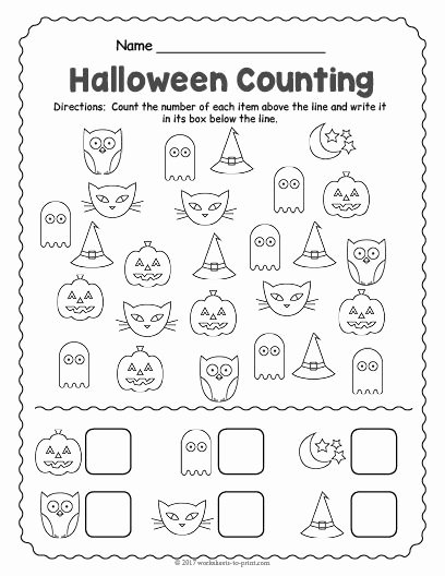 Halloween Counting Worksheets for Preschoolers Kids Free Printable Halloween Counting Worksheet