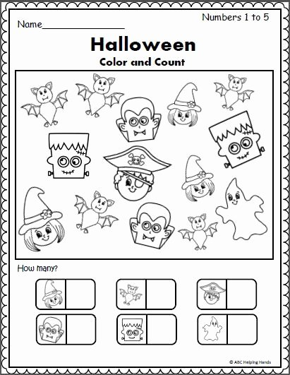 Halloween Counting Worksheets for Preschoolers Lovely Halloween Counting Worksheet 1 to 5 Madebyteachers