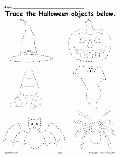 Halloween Printable Worksheets for Preschoolers Free Free Printable Halloween Tracing Worksheet Tracing