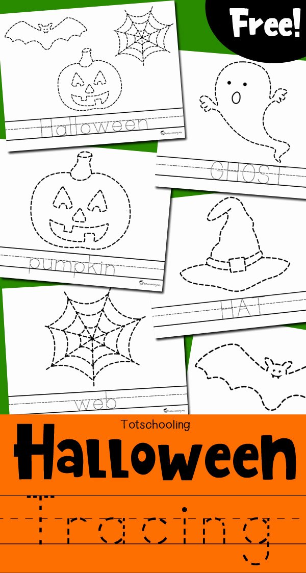Halloween Printable Worksheets for Preschoolers Kids Halloween Tracing Worksheets