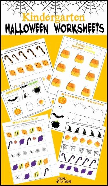 Halloween Printable Worksheets for Preschoolers Lovely Free Kindergarten Halloween Worksheets