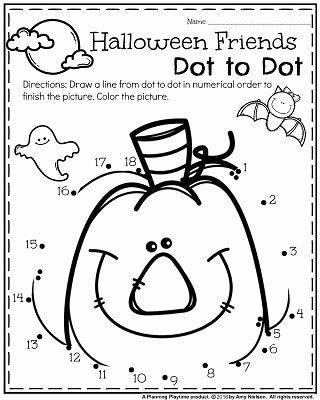 Halloween Printable Worksheets for Preschoolers New October Preschool Worksheets Planning Playtime