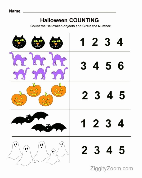Halloween Printable Worksheets for Preschoolers Printable Halloween Counting Preschool Worksheet Math Fun