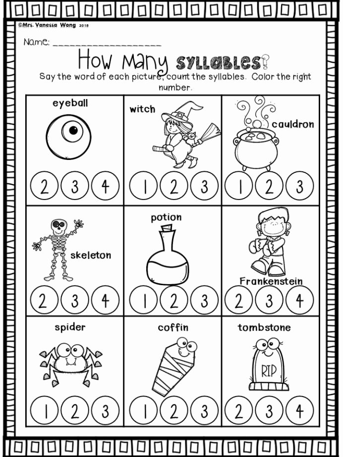Halloween themed Worksheets for Preschoolers Lovely Halloween Kindergarten Worksheets and Activities the