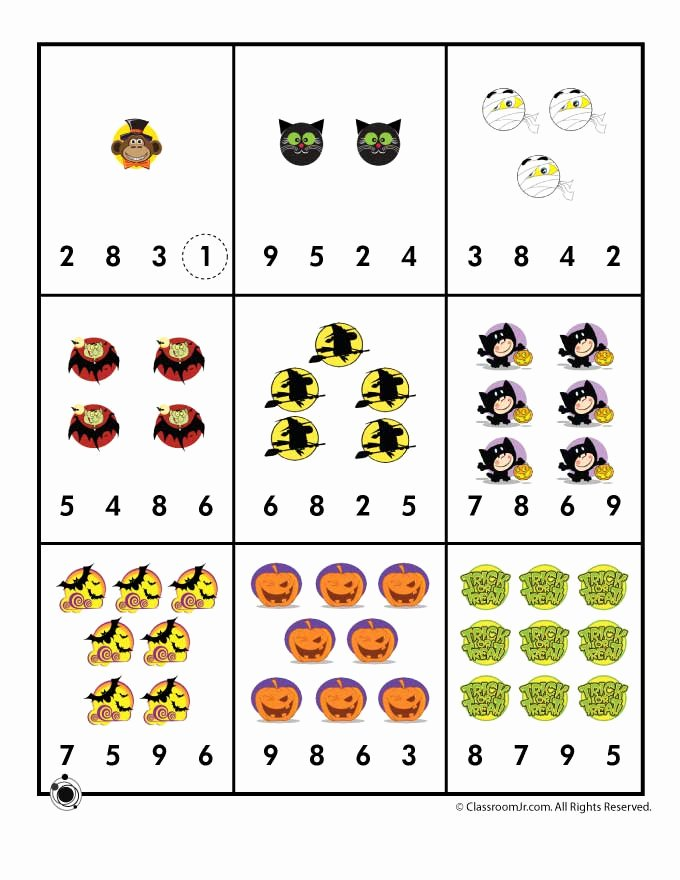 Halloween Worksheets for Preschoolers Lovely Preschool Worksheets for Halloween
