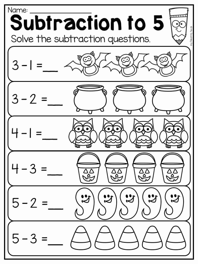 Halloween Worksheets for Preschoolers New Kindergarten Halloween Worksheet Pack atividades Matemática