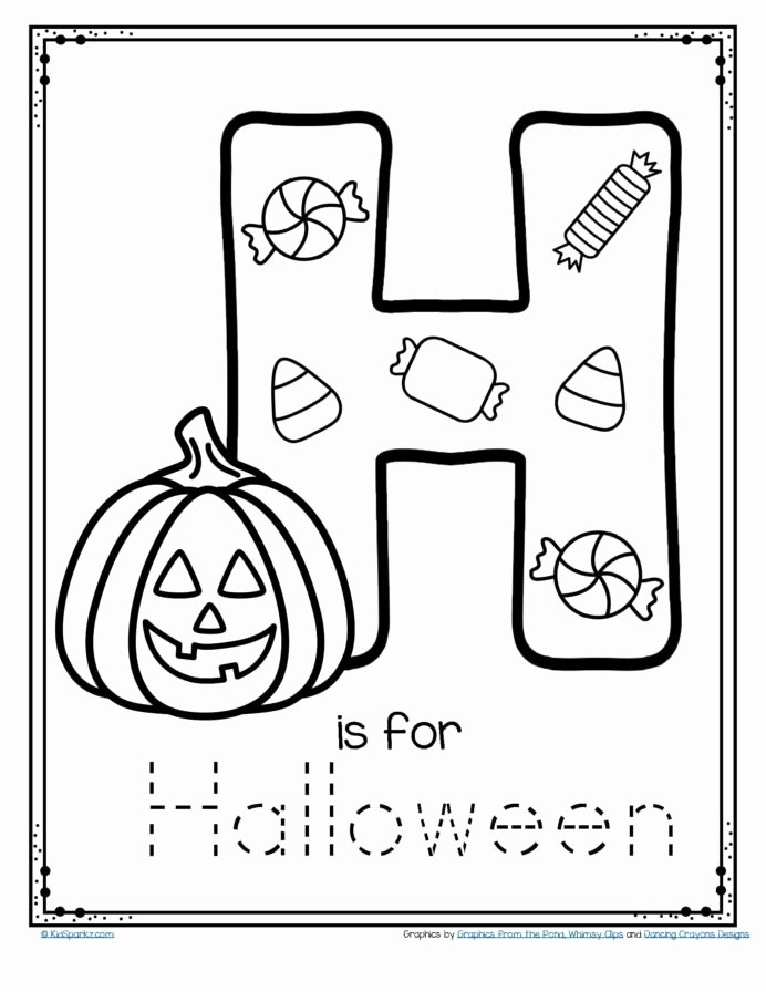 Halloween Worksheets for Preschoolers top Free is for Halloween Tracing and Coloring Alphabet