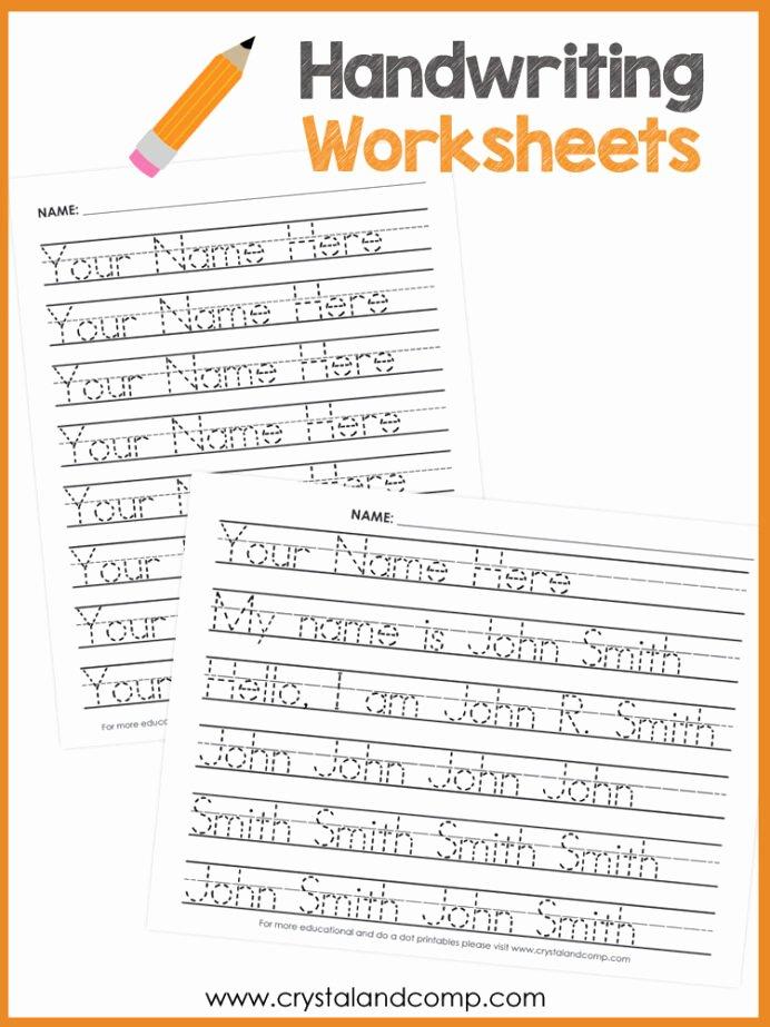 Handwriting Name Worksheets for Preschoolers Lovely Name Handwriting Worksheets You Can Customize and Edit