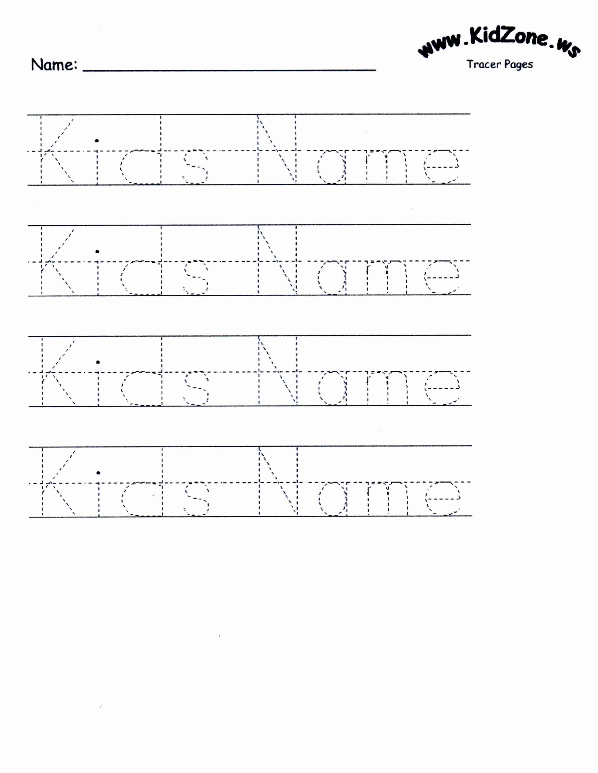 Handwriting Name Worksheets for Preschoolers top Custom Tracer Pages
