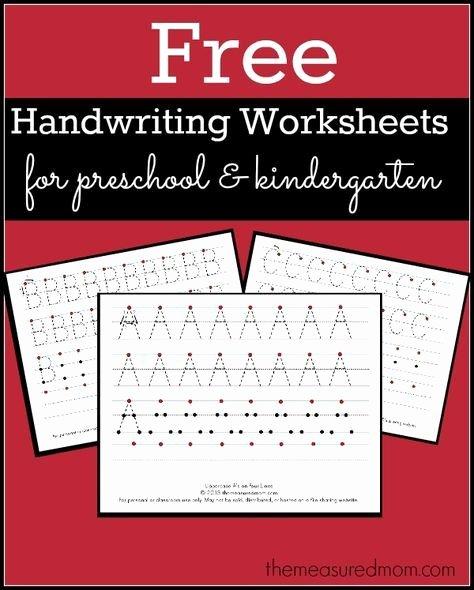 Handwriting Worksheets for Preschoolers Free Lovely Free Printable Handwriting Worksheets for Preschool