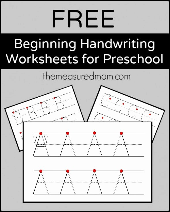 Handwriting Worksheets for Preschoolers New Level 2 Handwriting Worksheets Uppercase the Measured Mom