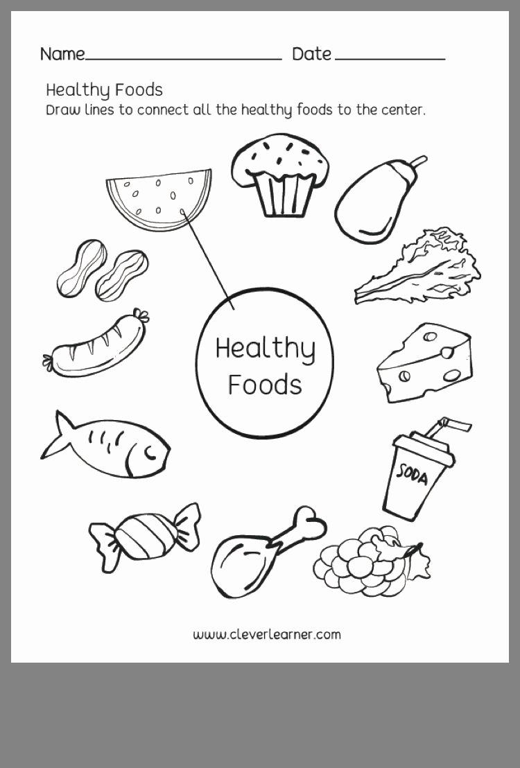 Healthy Foods Worksheets for Preschoolers Best Of Pin by Kris Hepler On Kindergarten