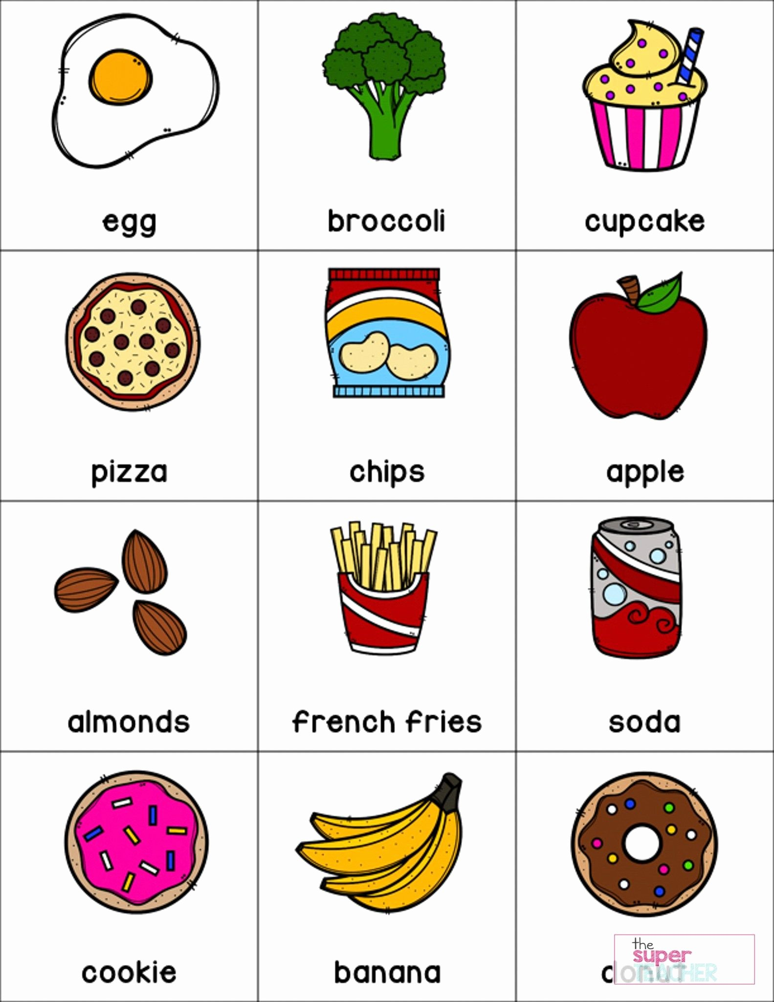 Healthy Foods Worksheets for Preschoolers Kids Healthy Foods Worksheet Free and Unhealthy Junk Food