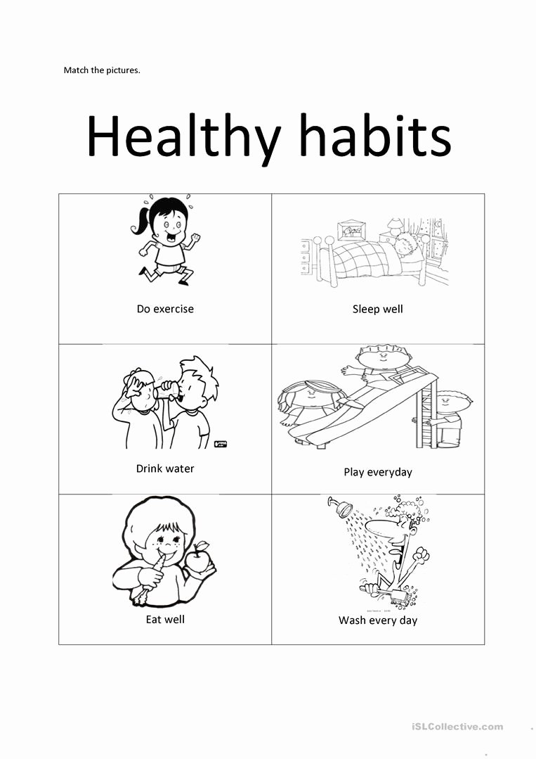 Healthy Habits Worksheets for Preschoolers Best Of Healthy Habits English Esl Worksheets for Distance Learning