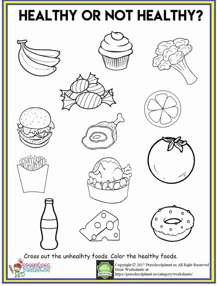Healthy Worksheets for Preschoolers Best Of Healthy Food Worksheet Out Th Flickr Worksheets Cool Fun