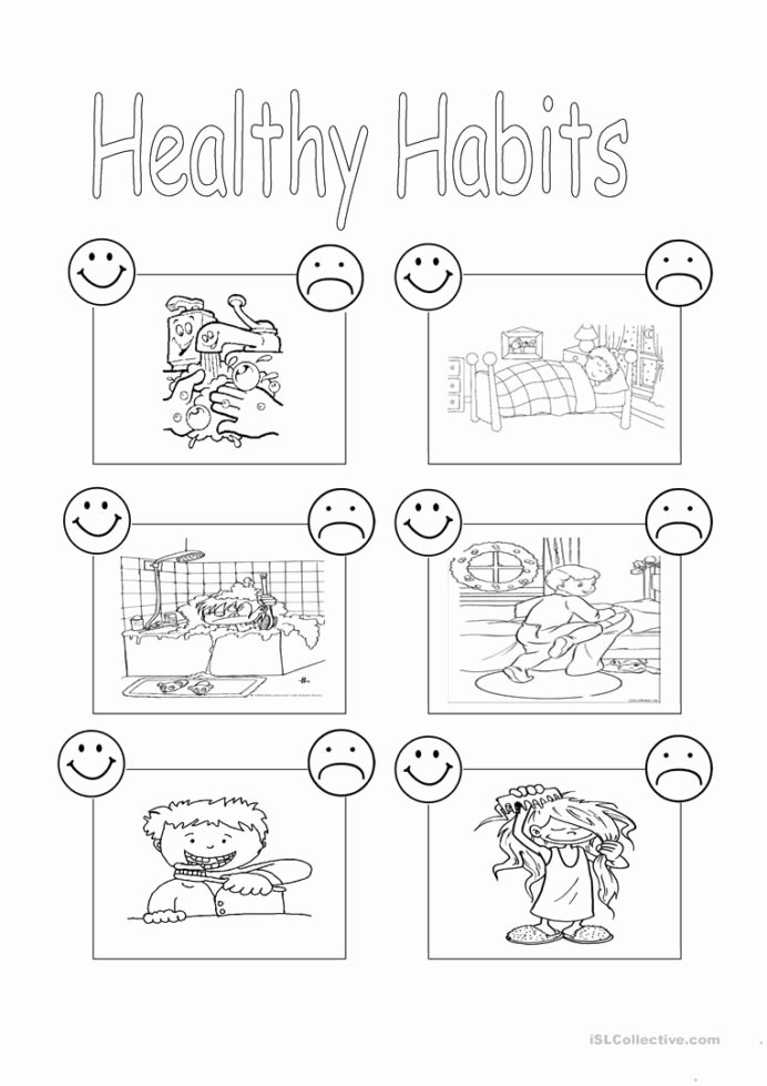Healthy Worksheets for Preschoolers Kids Healthy Habits English Esl Worksheets for Distance Learning