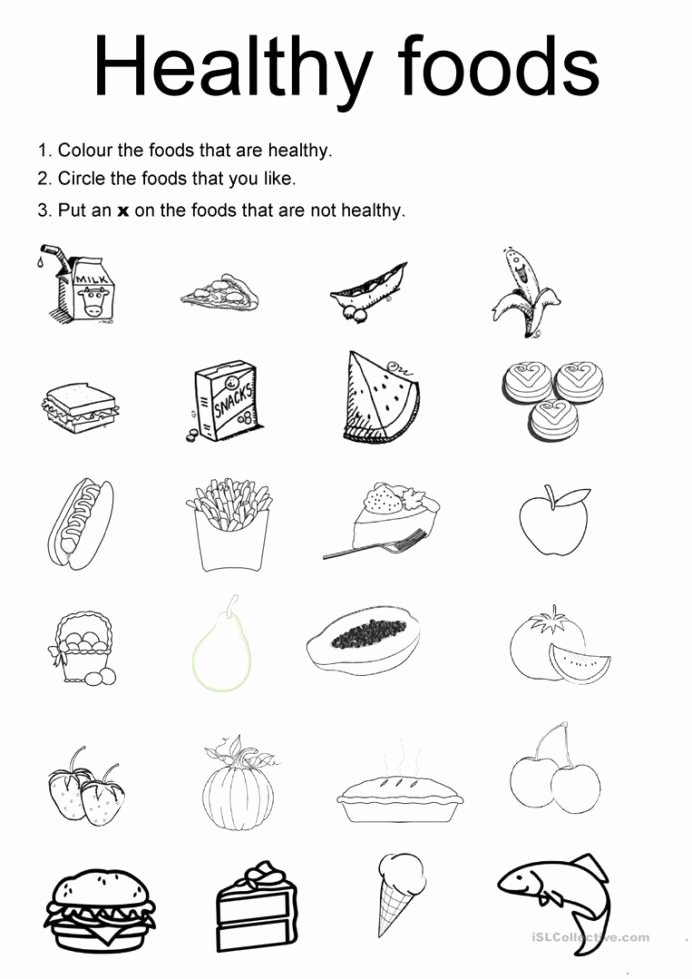 Healthy Worksheets for Preschoolers Lovely English Esl Healthy Food Worksheets Most Downloaded Results