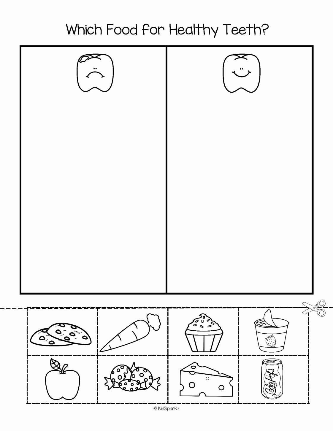 Healthy Worksheets for Preschoolers Lovely Free Dental Worksheets