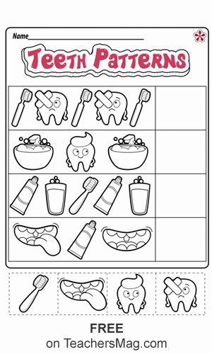 Healthy Worksheets for Preschoolers Printable Dental Health Worksheets for Preschool and Kindergarten
