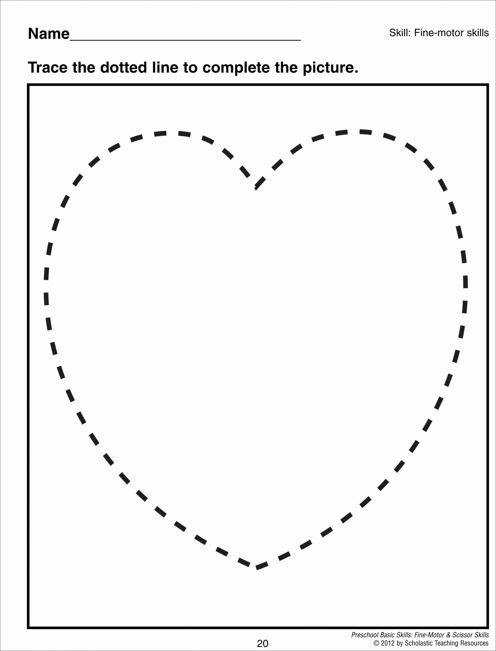 Heart Shape Worksheets for Preschoolers Best Of Heart Shape Tracing