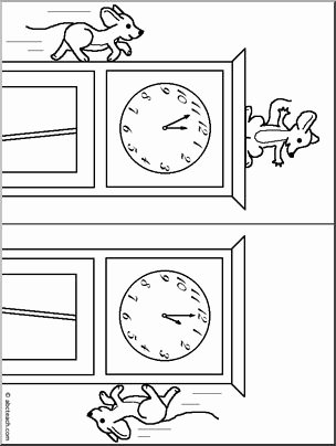Hickory Dickory Dock Worksheets for Preschoolers Best Of Nursery Rhymes Coloring Hickory Dickory Dock I Abcteach
