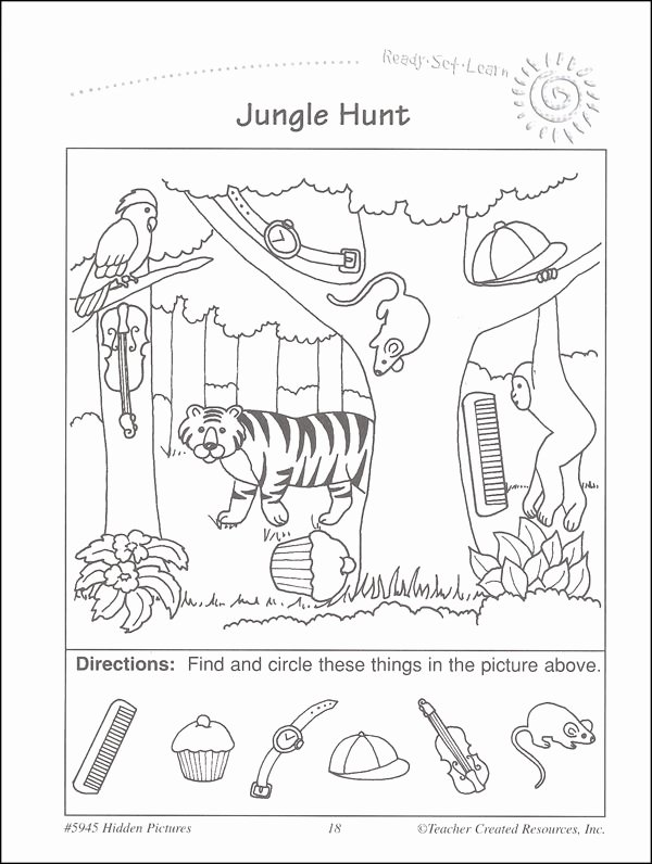Hidden Objects Worksheets for Preschoolers Best Of Easy Hidden Picture Worksheets