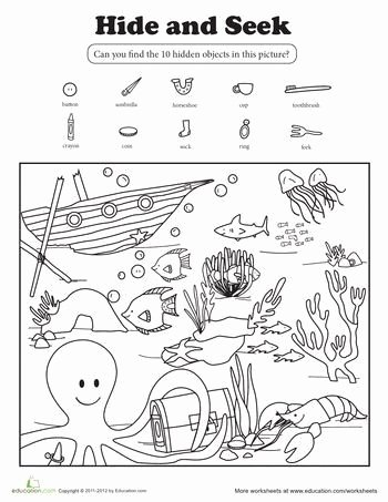 Hidden Objects Worksheets for Preschoolers Best Of Pin Auf Ciencia Preescolar