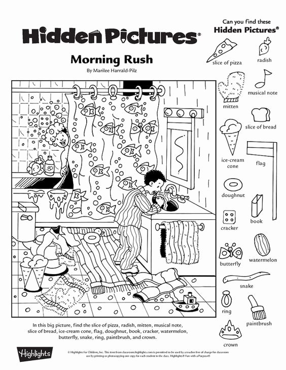 Hidden Objects Worksheets for Preschoolers Kids Collection Of Free Printable Hidden Picture Worksheets