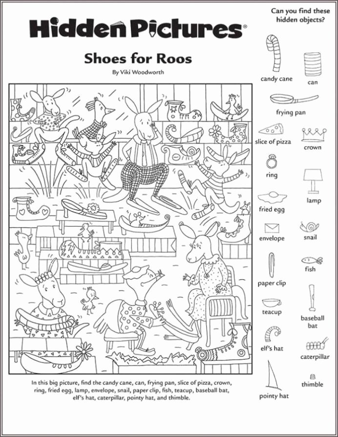 Hidden Objects Worksheets for Preschoolers Kids Hidden Worksheets Printable Shelter Free In with