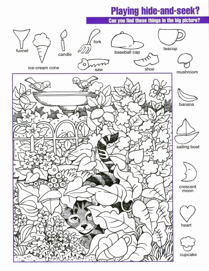 Hidden Objects Worksheets for Preschoolers New Hidden Worksheets Printable Activity Shelter