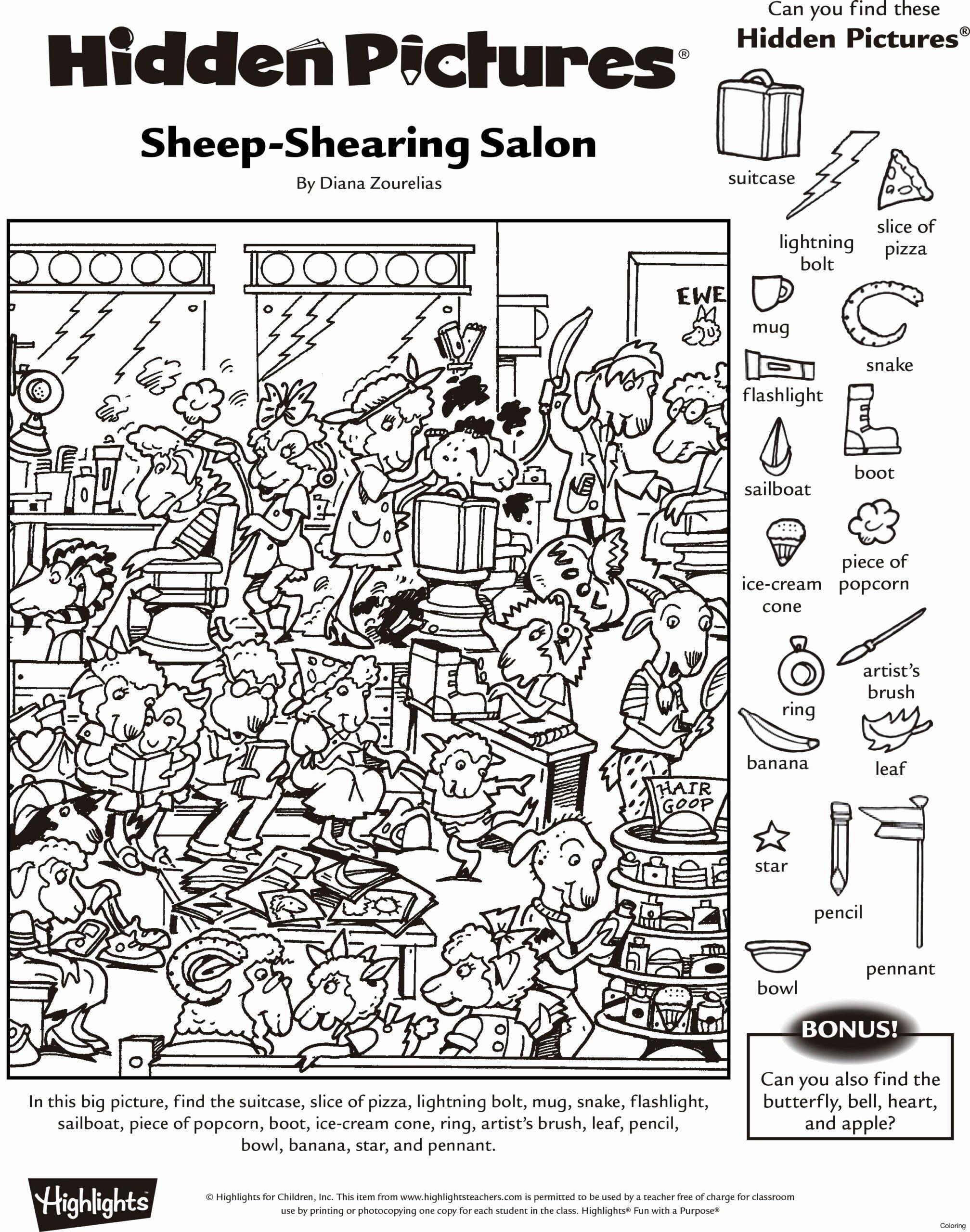 Hidden Picture Worksheets for Preschoolers Inspirational Hidden Printable Fresh Worksheets New Star Math