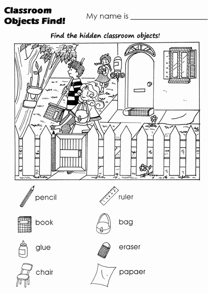 Hidden Picture Worksheets for Preschoolers Kids Free Hidden Worksheets Activity Shelter Objects