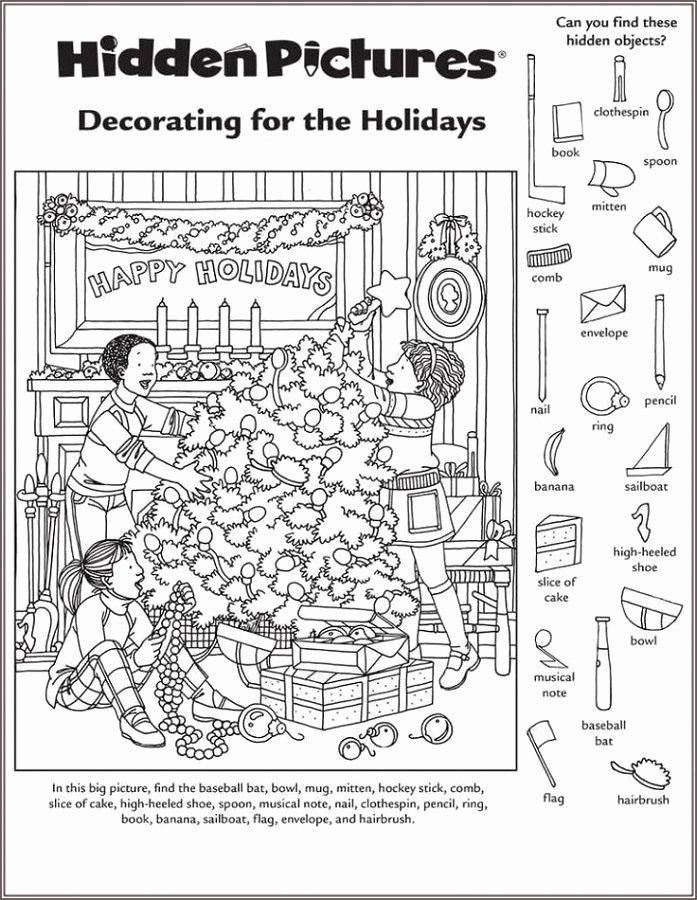 Hidden Picture Worksheets for Preschoolers Kids Hidden Picture Worksheet for Middle School