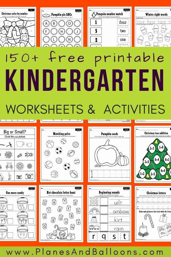 Homeschooling Worksheets for Preschoolers Best Of 400 Free Printable Worksheets for Kindergarten Instant