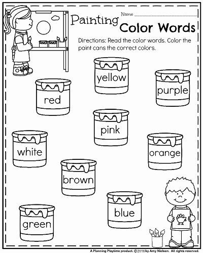 Homeschooling Worksheets for Preschoolers Free Back to School Kindergarten Worksheets Planning Playtime