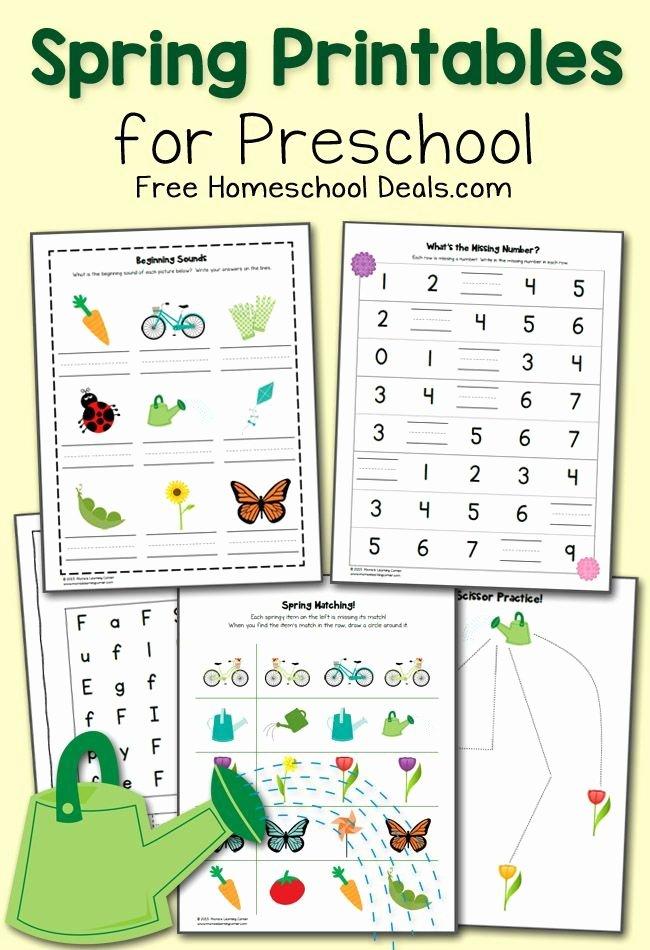 Homeschooling Worksheets for Preschoolers Free Free Spring Printables Pack for Preschool Instant