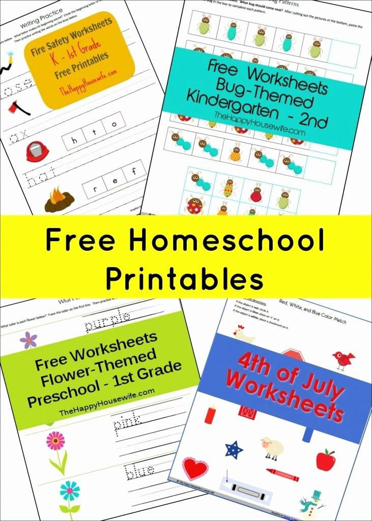 Homeschooling Worksheets for Preschoolers Kids Free Homeschool Printables the Happy Housewife™ Home