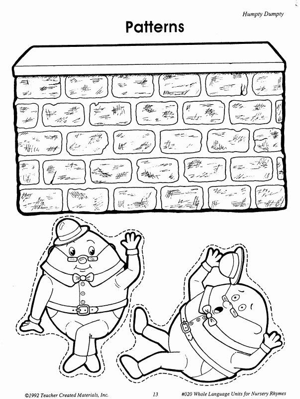 Humpty Dumpty Worksheets for Preschoolers Printable Exceptional Humpty Dumpty Printable