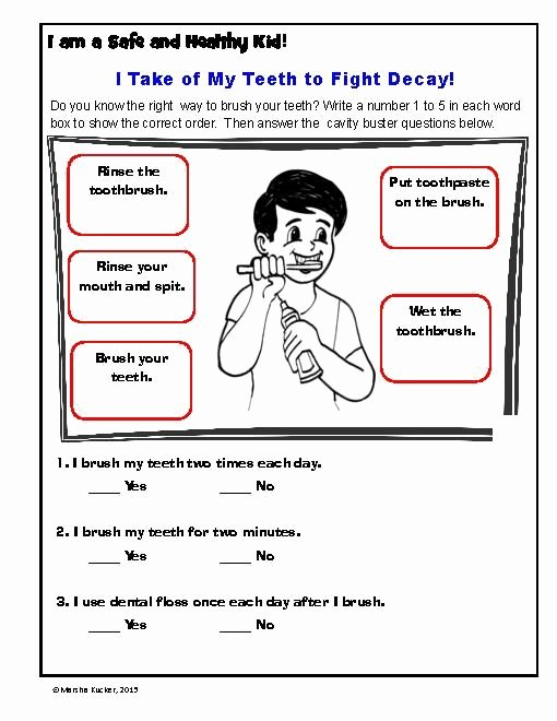 Hygiene Worksheets for Preschoolers New Mon Worksheets Free Printable Hygiene Worksheets Hygiene