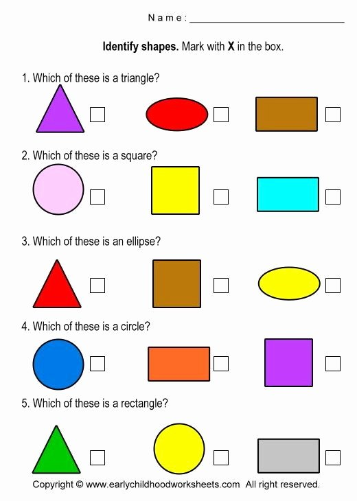 Identifying Shapes Worksheets for Preschoolers Best Of Identify Shapes Worksheets Worksheet 3