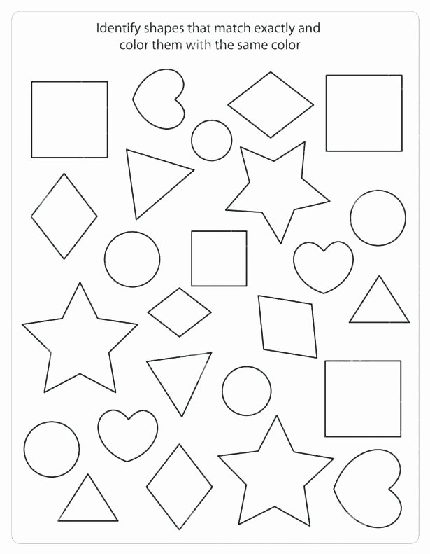 Identifying Shapes Worksheets for Preschoolers Best Of Shape Identification Worksheets – Dailycrazynews