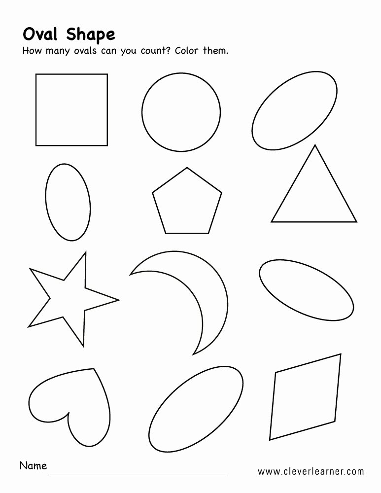 Identifying Shapes Worksheets for Preschoolers Inspirational Free Oval Shape Activity Worksheets for Preschool Children