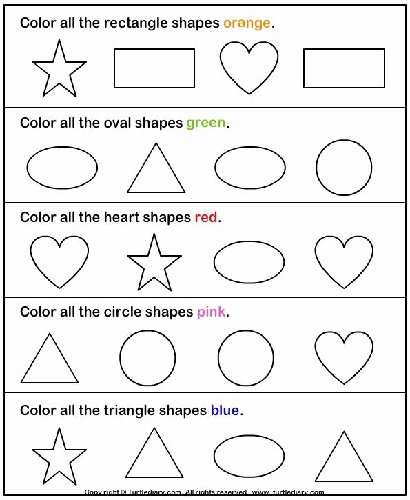 Identifying Shapes Worksheets for Preschoolers Inspirational Identify Shapes Worksheet