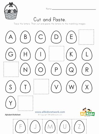 In and Out Worksheets for Preschoolers Ideas Coloring Pages Easter Cut Paste Missing Letters Worksheet