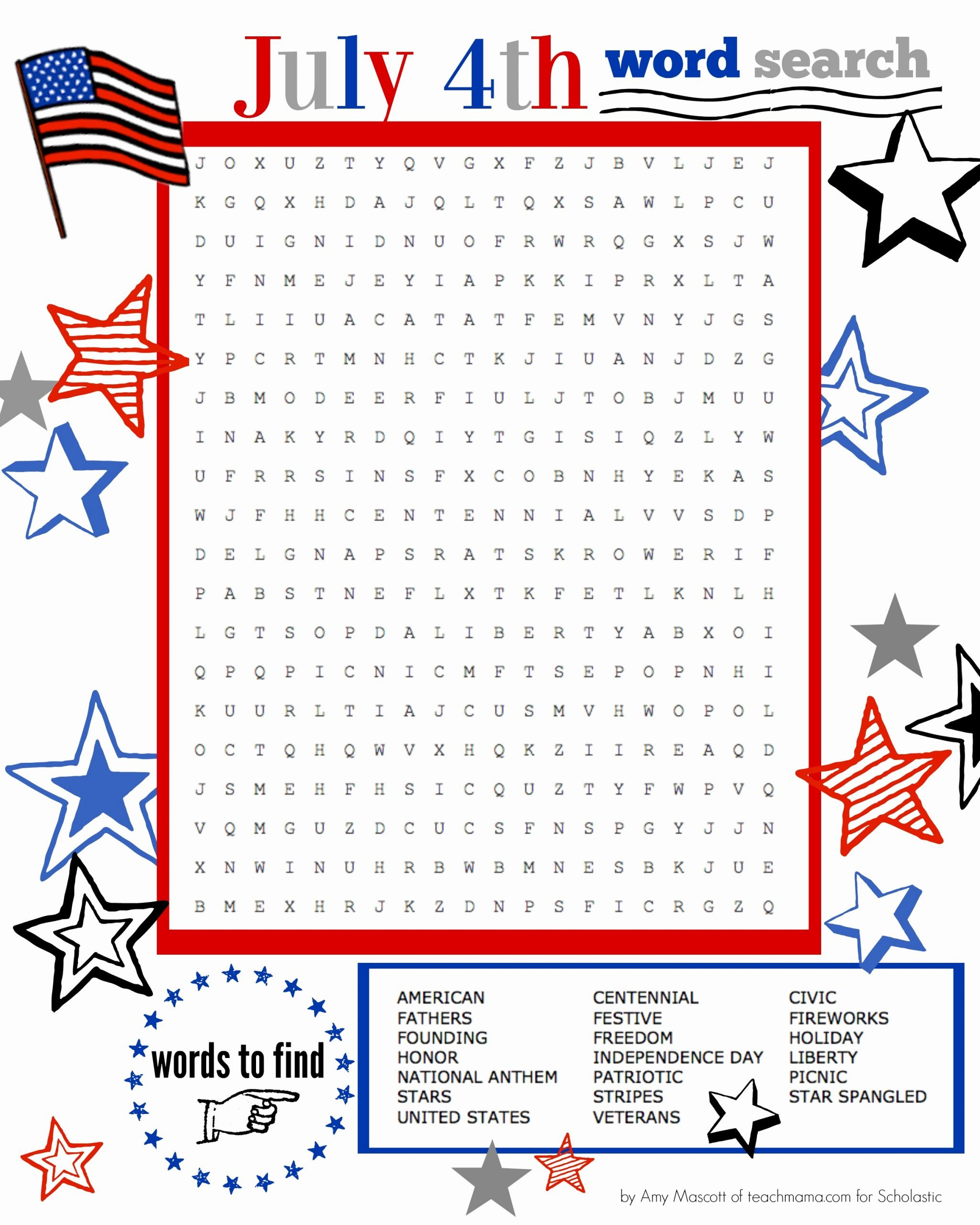 Independence Day Worksheets for Preschoolers Best Of Independence Day Word Search