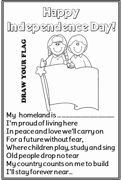 Independence Day Worksheets for Preschoolers Ideas Enjoy Teaching English Independence Day Poems Writing
