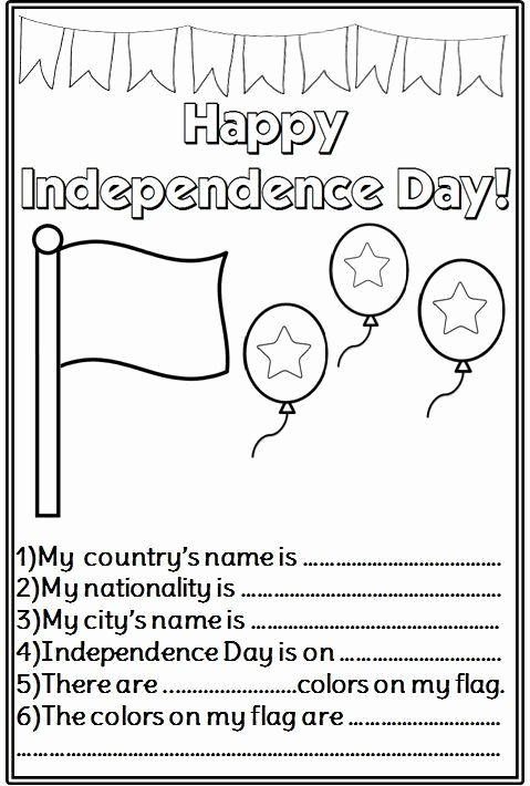 Independence Day Worksheets for Preschoolers Kids Independence Day Worksheets for Kindergarten Independence